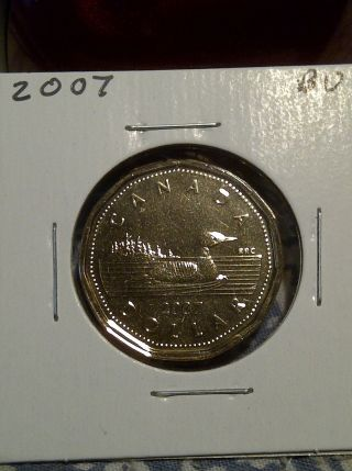 2007 - 1 Dollar Loonie Canadian Coin - Pr photo