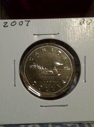 2007 - 1 Dollar Loonie Canadian Coin - Pr photo