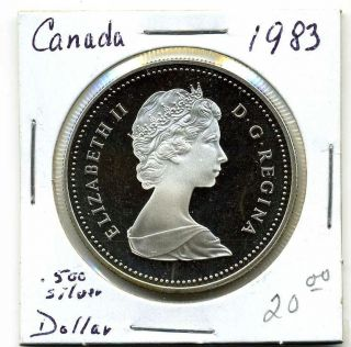 Canada Dollar 1983, .  500 Silver,  World University Games,  Proof photo