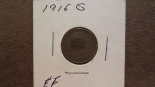 1916 - S,  Lincoln Cent photo