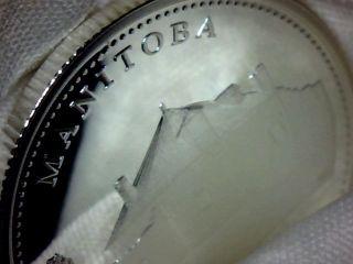 Manitoba Canada Silver 925% 125 Anniversary Commemorative 25 Cents 1992 photo