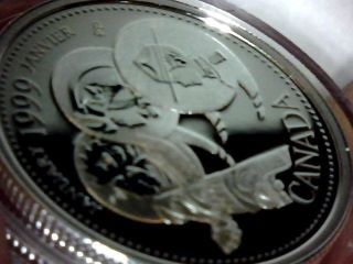 Silver 92.  5 % Millenium 25 Cent Proof January 1999 Canada photo