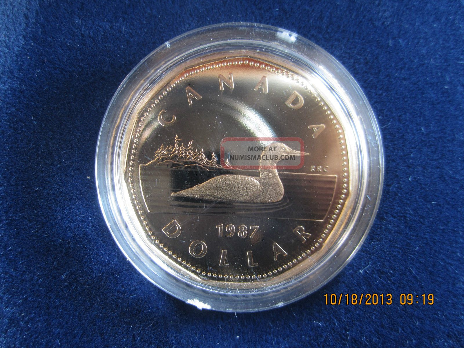 Canada 1987 Loonie 1 Dollar Proof Mintage 178120 First Year Coin