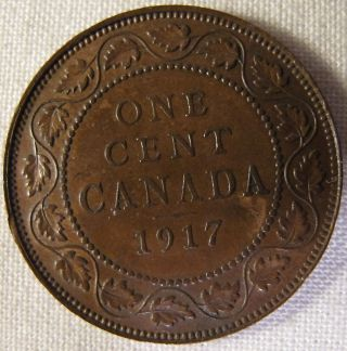 1917 Canada Large Cent Penny Please See Pictures And Description Low Mintage photo