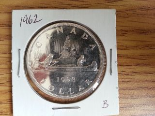 1962 Canada Silver Dollar - Grade.  See Pics.  B photo