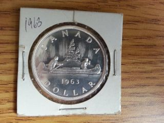 1963 Canada Silver Dollar - Grade.  See Pics. . photo