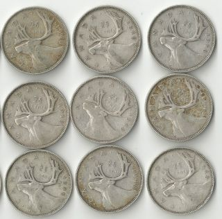 1948 Canada Silver Quarter George Vi 25 Cents. .  800 Silver - Multiple Available photo