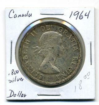 Canada Dollar 1964, .  800 Silver,  Au photo