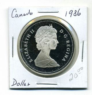 Canada Dollar 1986, .  500 Silver,  Proof photo