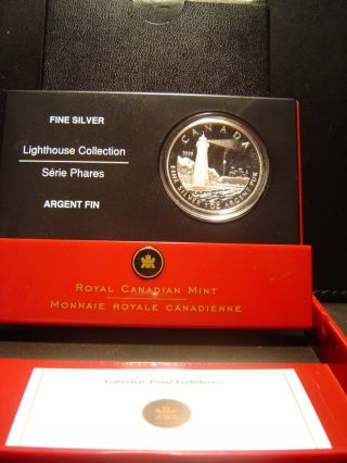 2005 Canada $20 Silver Proof Coin: Toronto Island Gibralter Lighthouse 99.  99% photo