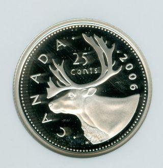 2006 Canada Silver 25 Cents Ngc Pr - 69 Ultra Heavy Cameo photo