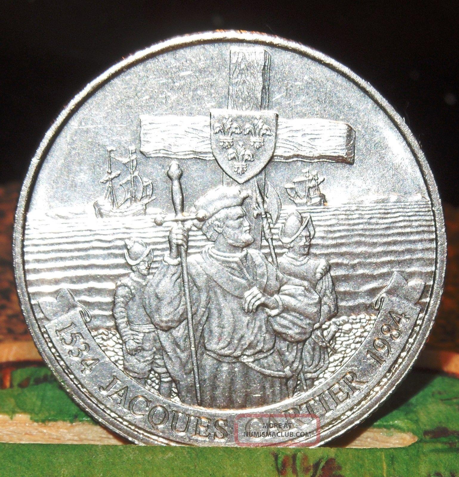 1984 Canada Jaques Cartier Dollar 1984 Canadian 1 Dollar