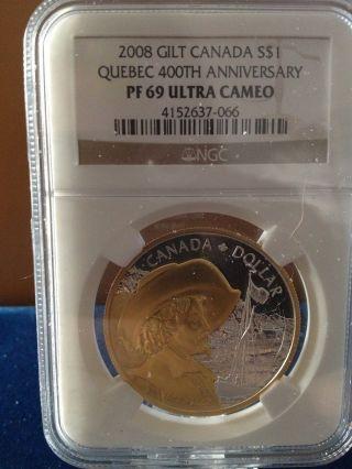 Canada Silver Dollar Proof 2008
