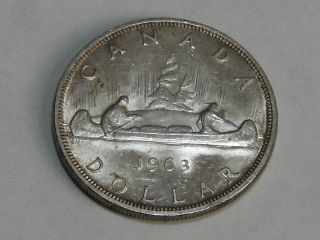 1963 Canadian Silver Dollar (bu) 7834 photo