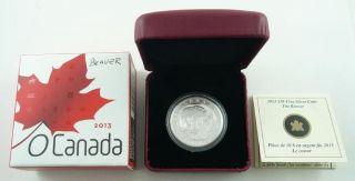 2013 Canada $10.  00 / Ten Dollars Fine Silver Coin - The Beaver & photo