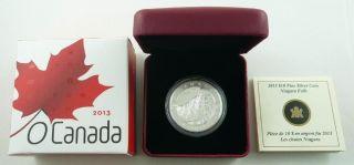 2013 Canada $10.  00 / Ten Dollars Fine Silver Coin - Niagara Falls & photo