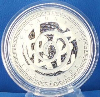2013 Year Of The Snake $10 Fine Silver 1/2 Troy Oz.  Commemorative Specimen Coin photo