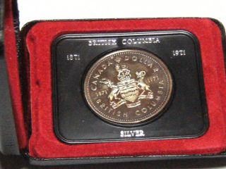 1971 British Columbia Centennial Cased Silver Dollar 4942a photo