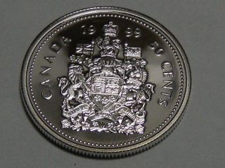 1999 Canadian Fifty Cent Coin (. 925 Silver Proof) 9840 photo