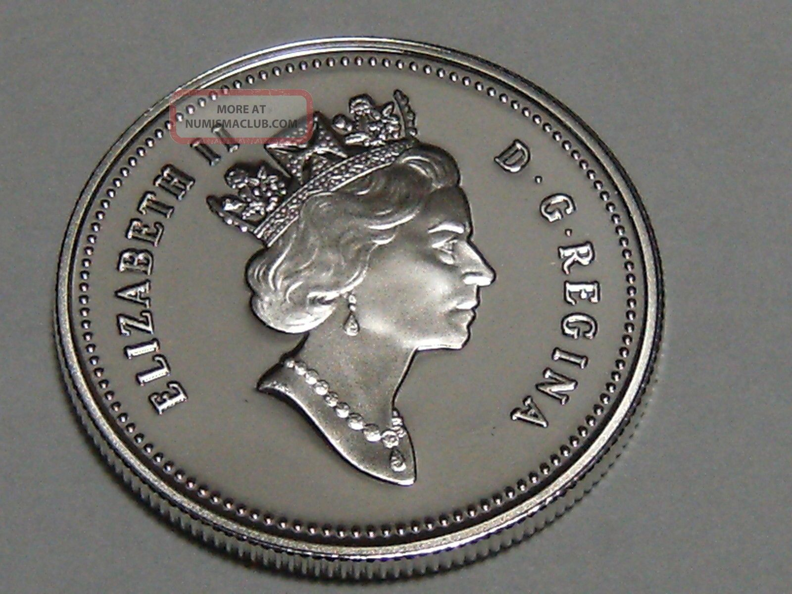 1999 Canadian Fifty Cent Coin 925 Silver Proof 9840