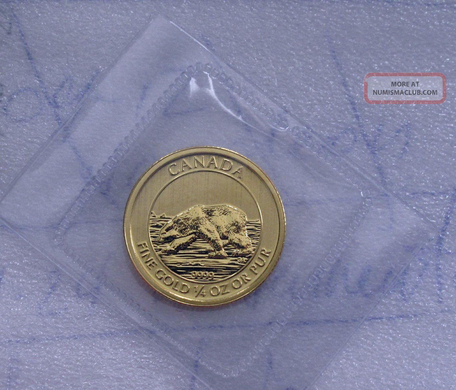2013 Canada 1 4 Oz 9999 Gold 10 Dollars Coin Polar