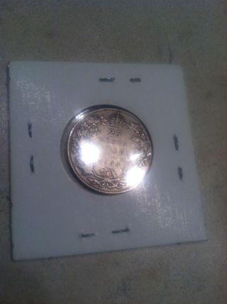 1936 Dot Rare Canada Twenty Five Cents Quarter Coin Freeship Us & Can Uc - 722 photo
