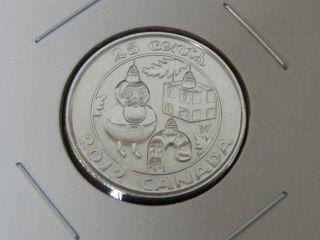 2012 Ms Unc Canadian Canada Christmas Tree Ornaments Quarter Twenty Five 25 Cent photo