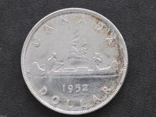 1952 Canada Silver Dollar Nwl Georgivs Vi Canadian Coin D7122 photo
