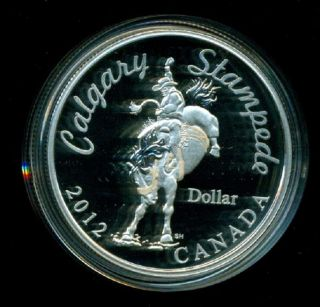Canada 2012 Limited Edition Calgary Stampede Fine Silver Dollar Coin photo