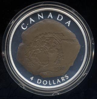 Canada 2010 $4 Silver Proof Euoplocephalus Tutus Dinosaur Fossil Series photo