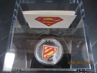 $20 Fine Silver Coin 1oz 75th Anniversary Of Superman