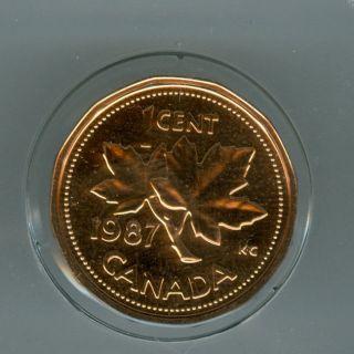 1987 Canada Cent Top Grade Specimen Proof Sp. photo