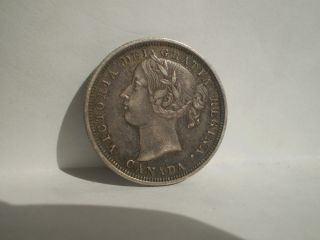 Canada 1858 - - 20 - - Twenty Cents - - Silver - - Xf/au - - - - - - No Tax photo
