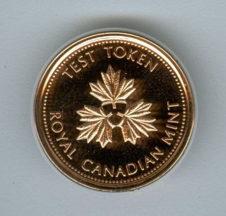 2004 Test Token Canada Cent Top Grade State Red. photo
