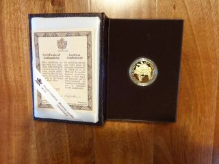1989 $100 Certified Commemorative Proof Royal Canadian Gold Coin photo