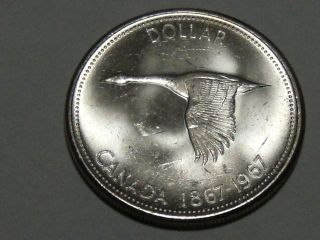 1967 Canadian Commemorative Silver Dollar (bu) 3390a photo