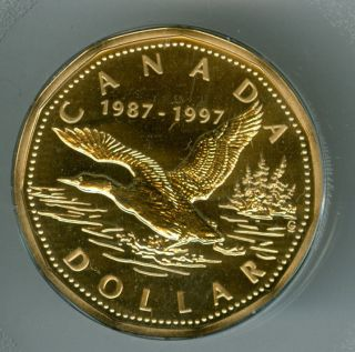 1997 Canada Flying Loon Dollar Specimen Proof Top Graded. photo