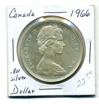 Canada Dollar 1966, .  800 Silver,  Bu photo