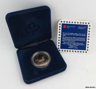 1987 Canada Proof Dollar Coin - Commemorative Common Loon Canadian photo