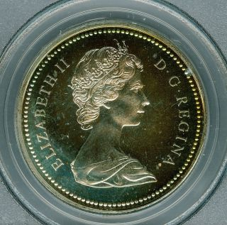 1971 Canada $1 Dollar Pcgs Sp67 Gorgeous Neon Rainbow Toned 12373255 photo