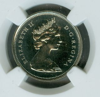 1972 Canada 25 Cents Ngc Pl67 Finest Graded Pop - 3 Rare photo