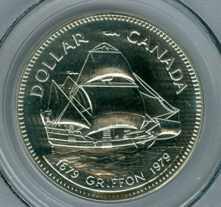 1979 Canada Griffon Silver $1 Dollar Pcgs Sp67 photo