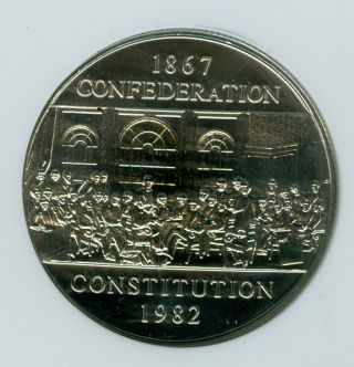 1982 Canada Constitution $1 Dollar Ngc Ms68 2nd Finest Graded 0273 photo