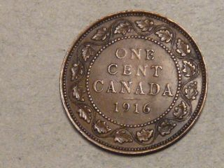 1916 Canadian Large Cent  8099 photo