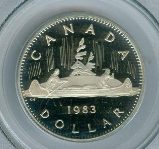 1983 Canada Clad $1 Dollar Pcgs Pr68 Ultra Heavy Cameo photo