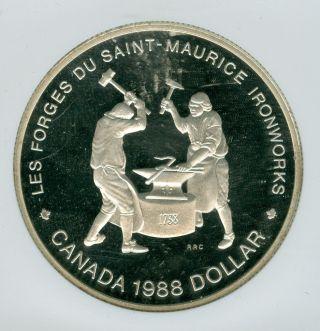 1988 Canada $1 Silver Dollar Ngc Pr69 Ultra Heavy Cameo photo