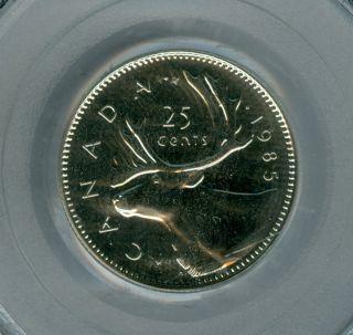 1985 Canada 25 Cents Pcgs Pl - 66 photo