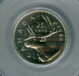 1986 Canada 25 Cents Pcgs Pl - 66 photo