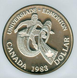 1983 Canada Games Silver $1 Dollar Ngc Pr68 Ultra Heavy Cameo photo