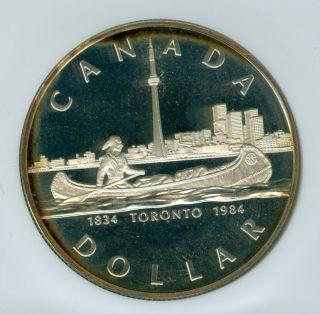 1984 Canada Toronto Silver Dollar Ngc Pr69 Ultra Heavy Cameo Finest Graded photo